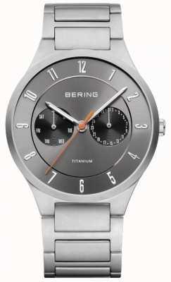 Bering Mens Titanium Grey Chronograph Watch 11539-779