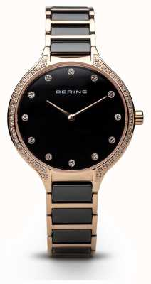 Bering Ladies Black Eramic Zirconia Set Watch 30434-746