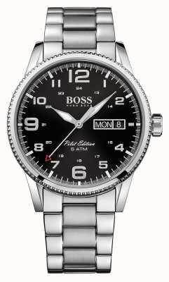 Hugo Boss Gents Pilot Vintage Stainless Steel Watch 1513327