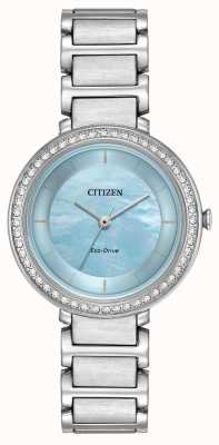 Citizen Womans Eco-Drive Silhouette Crystal Blue EM0480-52N
