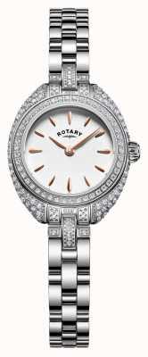 Rotary Womans Petite Stone Set Bracelet Silver LB05087/02