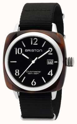 Briston Mens Clubmaster Classic Acetate HMS Tortoise Shell Black 16240.SA.T.1.NB