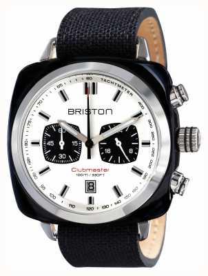 Briston Mens Clubmaster Sport Acetate Chrono Black 15142.SA.BS.2.LSB