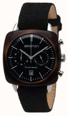 Briston Mens Clubmaster Vintage Acetate Chrono Tortoise Shell Black 16140.SA.TV.1.LFB
