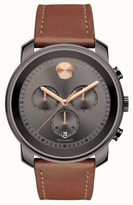 Movado Bold Grey Dial Chronograph Men's Watch 3600421