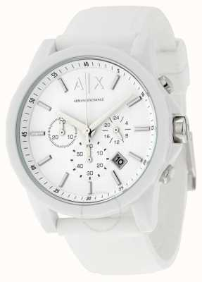 Armani Exchange Mens Active White Chronograph Silicone AX1325