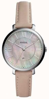 Fossil Womans Jacqueline MOP Dial Pink Leather Strap ES4151