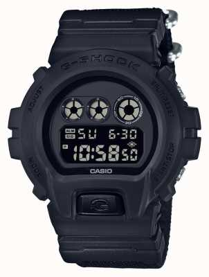 Casio Mens G-Shock Black Out Cloth Strap DW-6900BBN-1ER