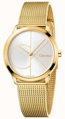 Calvin Klein Womans Minimal Gold Toned Mesh K3M22526