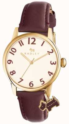 Radley Womans Liverpool Street Burgundy Leather Strap RY2454
