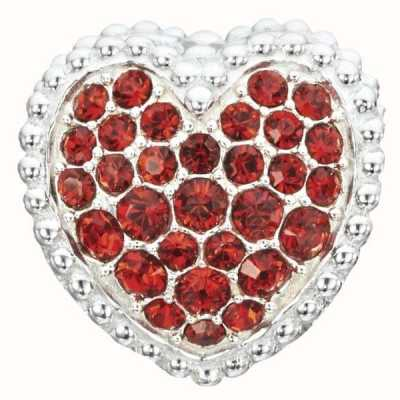 Chamilia Sterling Silver W Stone Red Kiss Me 2020-0786