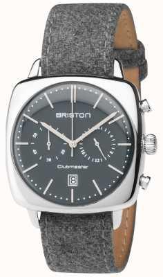 Briston Mens Clubmaster Vintage Grey Fabric Strap Grey Dial 17140.PS.V.17.LFG