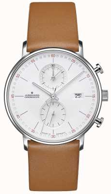 Junghans FORM C Chronoscope Calfskin brown Strap 041/4774.00