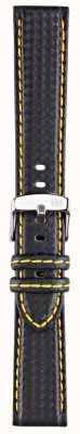Morellato Strap Only - Biking Techno Black/yellow 20mm A01U3586977897CR20