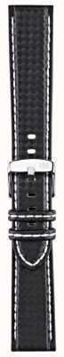 Morellato Strap Only - Biking Techno Black/white 22mm A01U3586977817CR22