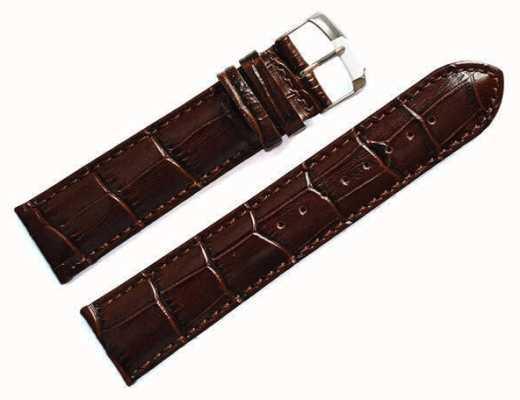 Morellato Strap Only - Samba Alligator Calf Brown 22mm A01X2704656032CR22