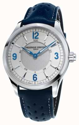 Frederique Constant Mens Horological Smartwatch Bluetooth Blue Leather Strap FC-282AS5B6