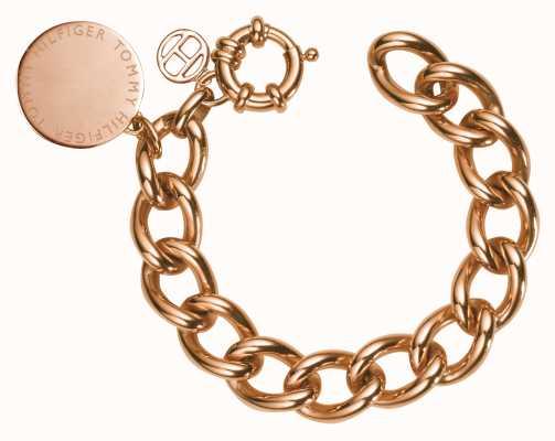 Tommy Hilfiger Womens Rose Gold Plated Bracelet 2700475