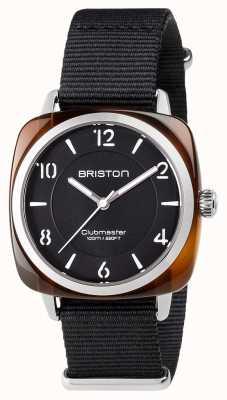 Briston Unisex Clubmaster Chic Black Acetate Steel With Nato Strap 17536.SA.T.1.NB