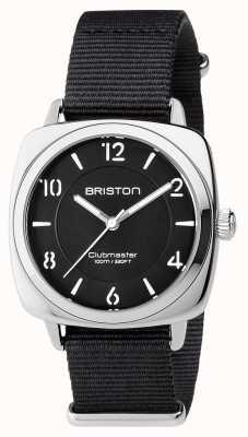 Briston Unisex Clubmaster Chic Black Steel With Nato Strap 17536.S.L.1.NB