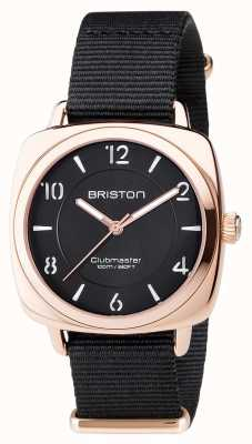 Briston Unisex Clubmaster Chic Black PVD Rose Gold 17536.SPRG.L.1.NB