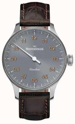 MeisterSinger Men's Circularis Hand Wound Sunburst Medium Grey CC327G