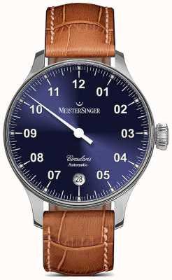 MeisterSinger Mens Circularis Automatic Sunburst Blue CC908