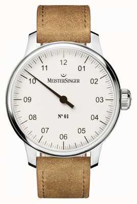 MeisterSinger Men's no. 1 Classic Hand Wound Sellita White AM3301