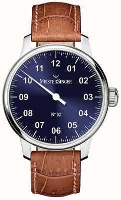 MeisterSinger Mens Classic No. 2 Hand Wound Sunburst Blue AM6608N