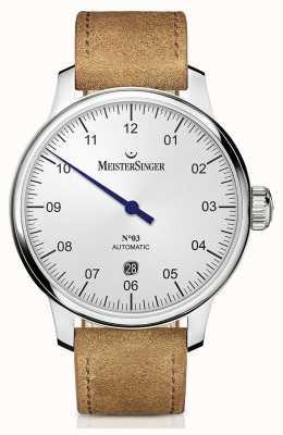 MeisterSinger Men's Classic No. 3 Automatic 40mm Opaline-Silver DM901
