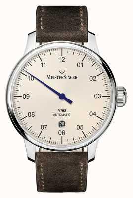 MeisterSinger Men's Classic No. 3 Automatic 40mm Ivory DM903