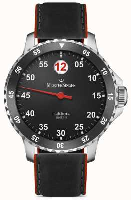 MeisterSinger Mens Classic Plus Salthora Meta X Automatic Black Red SAMX902