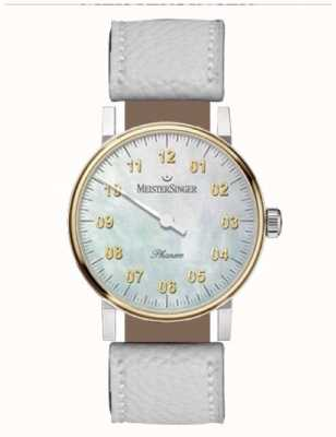 MeisterSinger Unisex Form And Style Phanero Hand Wound Mother Of Pearl PVD PHM1G