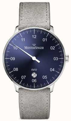MeisterSinger Mens Form And Style Neo Plus Automatic Sunburst Blue NE408