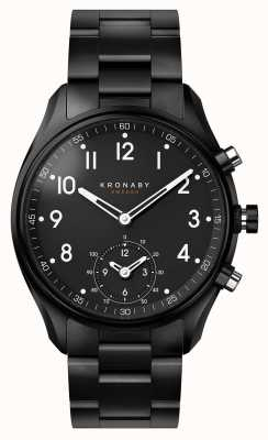 Kronaby 43mm APEX Bluetooth Black PVD Metal Strap Smartwatch A1000-0731