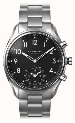 Kronaby 43mm APEX Bluetooth Stainless Steel Black Dial A1000-1426 S1426/1