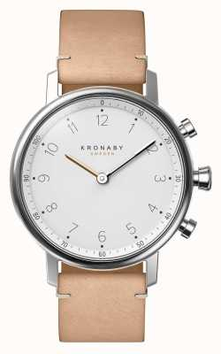 Kronaby 38mm NORD Bluetooth Beige Leather Strap A1000-0712 S0712/1