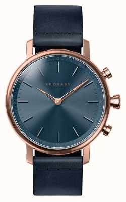 Kronaby 38mm CARAT Bluetooth Rose Gold Blue Leather A1000-0669 S0669/1