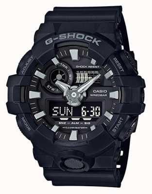 Casio Mens G-shock Black Alarm Chronograph GA-700-1BER