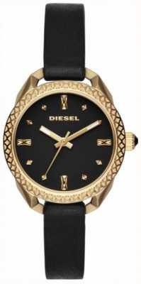 Diesel Ladies Shawty Black And Gold Watch DZ5547