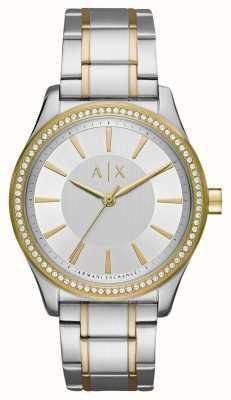 Armani Exchange Ladies Nicolette Two Tone Watch AX5446