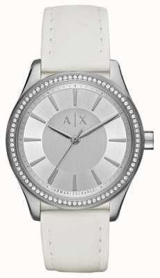 Armani Exchange Ladies Nicolette White Strap Watch AX5445