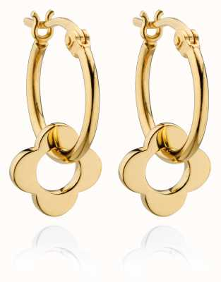 Orla Kiely FLORA Gold Plated Sterling Silver Earrings E5229