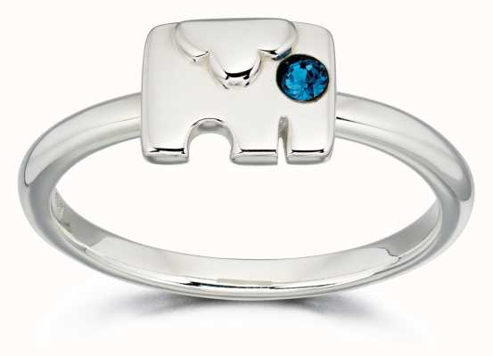 Orla Kiely ANIMAL STORIES Sterling Silver Elephant Ring R3495-54