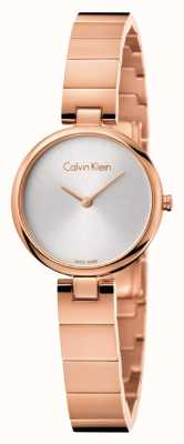 Calvin Klein Womans Authentic PVD Plated Rose Gold Bracelet K8G23646