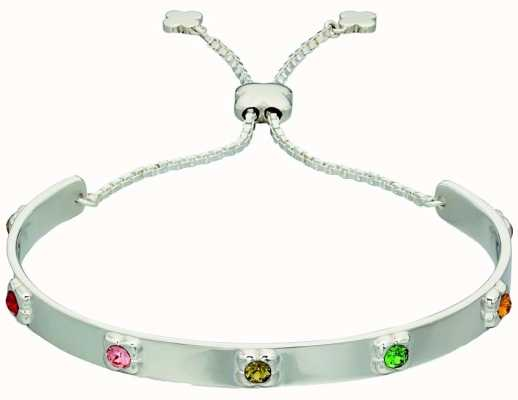 Orla Kiely Womans Sterling Silver Flower Toggle Bracelet B4850