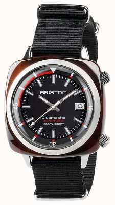 Briston Unisex Clubmaster Diver Tortoise Shell Acetate Auto Black 17642.SA.TD.1.NB