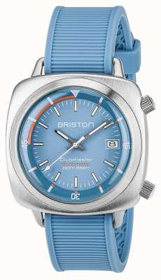 Briston Unisex Clubmaster Diver Brushed Steel Auto Blue 17642.S.D.18.RLB