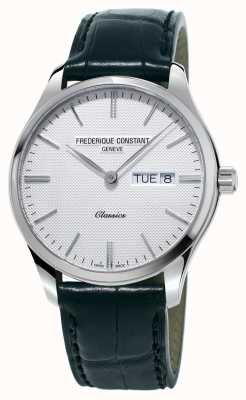 Frederique Constant Mens Classics Quartz Black Leather Strap White Dial FC-225ST5B6