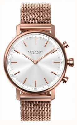 Kronaby 38mm CARAT Bluetooth Rose Gold Plated Mesh A1000-1400 S1400/1
